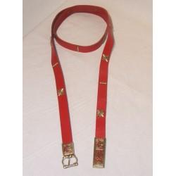 ceinture Rouge Boucle et mordant griffon +deco étoile